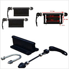 A Pair Black Alloy Bicycle Block Quick Release Fork Mount Carrier Holder For Car