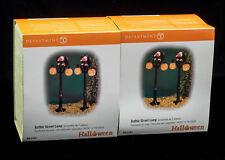 D56 Halloween Gothic Street Lamps Nib Total Of 4 Lamps Of 2 In Each Box 50% Off