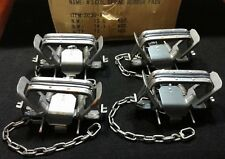 4  BRIDGER #3 RUBBER JAW COIL SPRING TRAP SOFT CATCH TRAPPING COYOTE BOBCAT TRAP