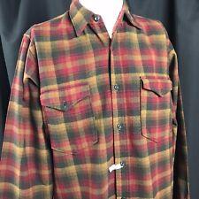 Vintage Pendleton Plaid Flannel Shirt Virgin Wool Hunting Portland USA 15 1/2 M