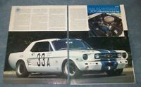 Factory Photo 1965 Ford Shelby Mustang GT350 Two Door Hardtop Ref. # 74703