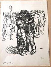 """Téophile Alexandre Steinlen """"Le départ à la guerre"""" lithographie originale"""
