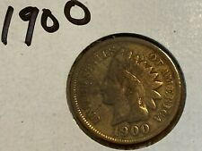 Indian cent 1900, circulated
