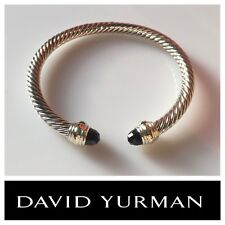 David Yurman Cable Classic Bracelet with Black Onyx and 14K Gold  5mm