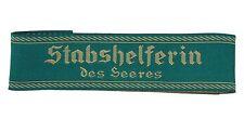 Stabshelferin des Heeres BEVO CUFF TITLE German Army Auxiliary Staff - WW2 Repro