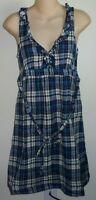 Womens AEROPOSTALE Woven Plaid V-Neck Dress size S NWT #4528