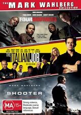 Mark Wahlberg Collection: Four Brothers+Shooter+The Italian Job (DVD, 3Disc Set)
