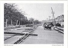 """+PC-Postcard-""""The 1916 Hurricane"""" -Chaparral Street in Corpus Christi, TX (A2-5)"""