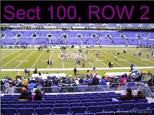 2 MIDFIELD LOWER LEVEL Baltimore Ravens Season Tickets PSL License Rights SBL