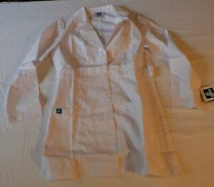 """Adar Women's Universal Belted 33"""" Lab Coat KB7 White Small NWT"""