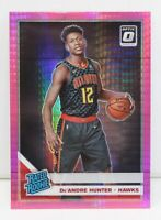 De'Andre Hunter RC 2019-20 Donruss Optic Hyper Pink Prizm Rated Rookie Card #198