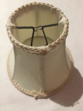 """Cream Laced Bell Clip On Lamp Shade 6"""" H x 6"""" W"""