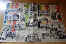Großes Faltprospekt , Plakat über Mitteldeutschland Ostzone 80x 56 um 1960