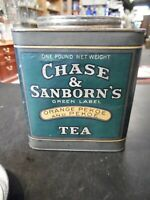 Antique Chase & Sanborn's Green Label Orange Pekoe Tea Tin