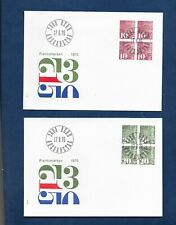 SWITZERLAND 1970 COIL STAMPS BLOCKS OF 4 ON FDC's