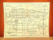 "STINSON AIRLINER MODEL ""A"" FLYING MODEL AIRPLANE PLAN 22"""