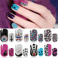 Stylish Polish Nail Art Decals Adhesive Manicure Stickers Foils Wraps 8Styles  t