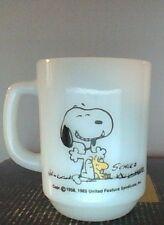 Vintage Peanuts Snoopy Anchor Hocking Fire-King Mug Nice Condition