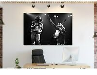 ACDC - Angus Young - Brian Johnson - Live - Canvas Wall Art Print
