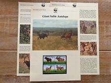 ANGOLA 1990 PAGES x 6 MNH WWF SABLE ANTELOPE