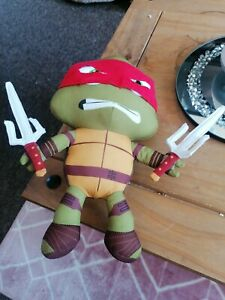 Teenage mutant ninja turtles Viacom Nickelodeon Raphael Plush Eyes Light Up Rare