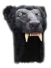 BLACK BEAR GRIZZLY ANIMAL HEAD HELMET MASK LATEX & FUR  HALLOWEEN