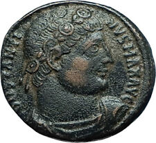 CONSTANTINE I the GREAT 330AD Authentic Ancient Roman Coin w SOLDIERS i66031
