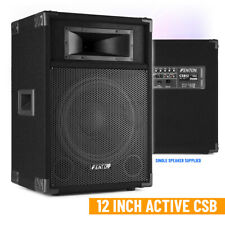"CSB 12"" Active DJ Speaker PA Sound System and Built-in 600w High Power Mixer Amp"