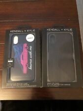 LOT OF 2 Kendall + Kylie Black Cars Bounce With Me Cases iPhone 10 X