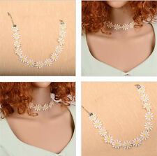 Hot Lolita Lace sweet Choker Cute Daisy Flower Yellow Collar Necklace JewelryNew