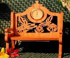 Fretwork Miniature Garden Bench Clock