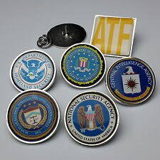 US SPY / AMERICAN LAW ENFORCEMENT Pin Badge Collection / Tie Pins - You Choose!