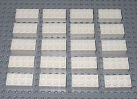 LEGO Bricks   2x4 x 20 pcs - White - Brand New