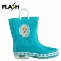 Character Kids Light Up Wellington Boots Welliess Unisex Infants Pull On Outdoor