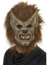 MENS LADIES KIDS 3/4 FACE WEREWOLF MASK FANCY DRESS MAN WOLVERINE HALLOWEEN