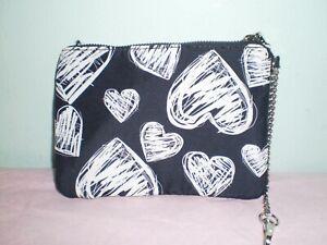 BETSY JONHSON WOMEN'S  HEARTS COSMETICS POUCH BAG