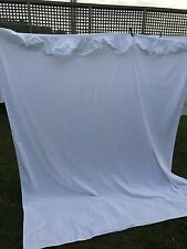 VINTAGE ROYAL FAMILY COMFORTCALE BY CANNON FULL SIZE WHITE FLAT SHEET WITH EYELE