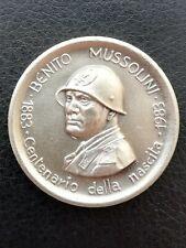 Medaglia CENTENARIO NASCITA BENITO MUSSOLINI Dovia Predappio 29 Luglio 1883-1983