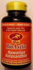 Nutrex BioAstin, Hawaiian Astaxanthin, 12 mg Supplement, 120 gel Caps, Free Ship