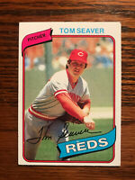 1980 Topps #500 Tom Seaver Baseball Card HOF Raw Cincinnati Reds