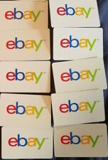 LOT of 10 USED eBay GIFT CARDS  $0 NO VALUE