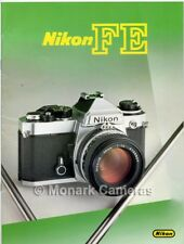 Nikon FE Camera + Lens Dealer Sales Brochure from 1982, More Catalogues Listed