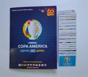 ORIGINAL Panini Copa America 2021 Stickers Album Complete Set unstick 369 Messi