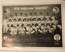 Portland Beavers 1958 and 1960 PCL AAA Baseball Original Team Picture Get  Both