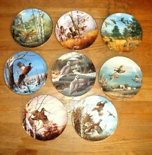 Danbury Mint Game Birds Collection Plates Complete Set of 8 ~ Pheasant Grouse