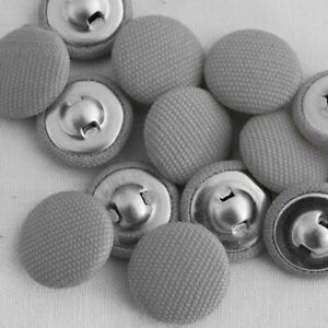 New 2 Holes Round Fabric Buttons For Sewing Gray Color 15 mm Button