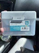 Index Card Holder Recipe Box Storage 3x5 Clearwhite New