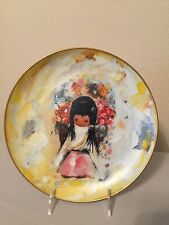 "DeGrazia Limited Edition ""The Flower Girl"" Plate Autographed #323 with Orig. Box"