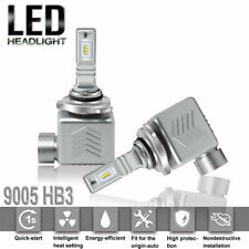 2x 9005 HB3 White LED Headlight Conversion 80W Kit Bulbs 6000K Hi-Low Beam Lamp