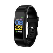 Black BT Smart Watch Bracelet Heart Rate & Blood Pressure Monitor Sports Sale